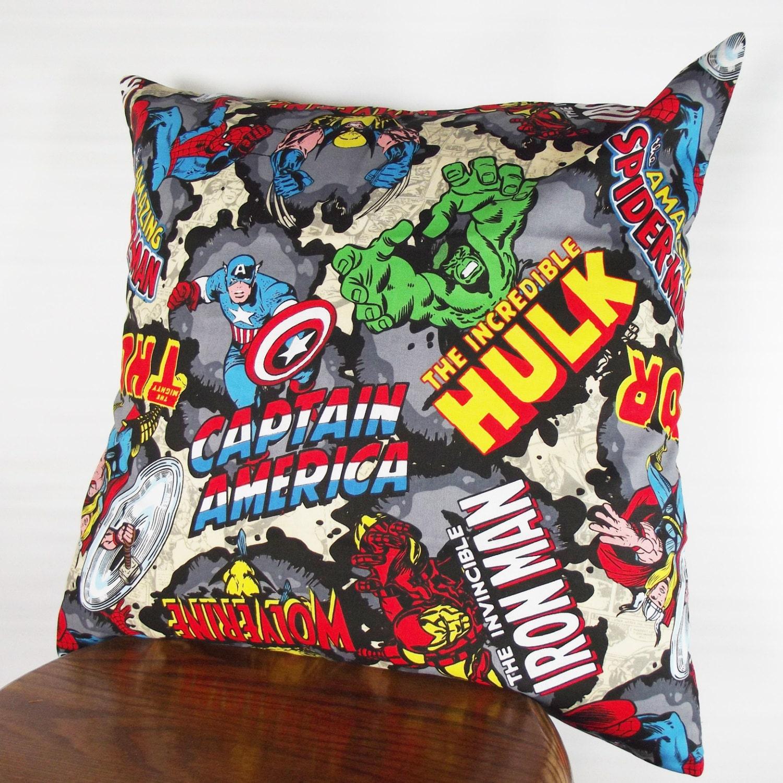 SALE Avengers pillow Marvel comics pillow cover comic