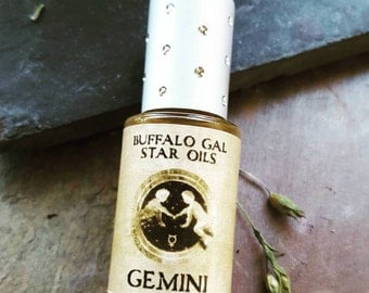 GEMINI Zodiac Star Oil // Astrology Aromatherapy for the Air Sign Gemini - The Twins // Essential Oil Perfume