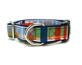 """Houndstown 1"""" Plaid Martingale or Buckle Collar Size Small through X-Large"""