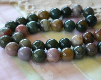 33pcs Fancy Jasper 12mm 16 Inches Natural Gemstone Beads