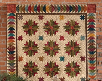 """QUILT BOOK:  Scrappy Quilts and Projects for Yuletide Style - """"Simple Christmas Tidings"""" - Kim Diehl"""