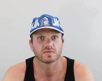 Vintage 80s Duke Blue Devils Baseball Snap Back Hat