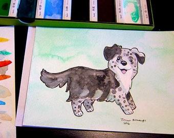 Custom Pet Portrait Watercolor Commission