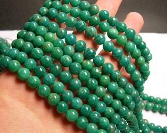 Amazonite - 8 mm round beads -1 full strand - 49 beads - Russian Amazonite - RFG912