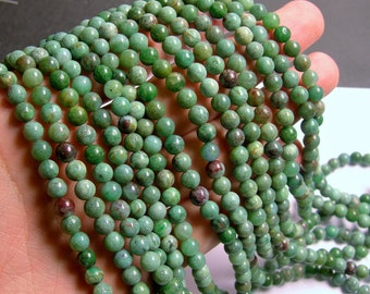 Australian Bloodstone - 6mm round beads -1 full strand - 67 beads - RFG303