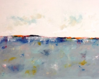 Large Blue Abstract Seascape - Coastal Color 60 x 40