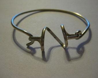 Hand Forged Silver Twist Bangle Bracelet