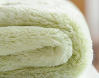 minky baby blanket, green minky, satin edge baby blanket, gender neutral baby blanket