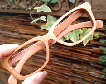 cherry wood   handmade prescription sunglasses eyeglasses from TAKEMOTO can be customize