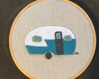 Hand stitched vintage camper