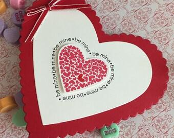 Be Mine Heart - Handmade Valentine/Anniversary Card