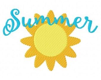 Sunshine // Summer // Machine Embroidery Design // 5x7 // Joyful Stitches
