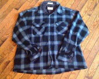 Vintage Men's Cascade Wool Plaid Shirt Sz XL