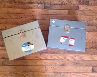 Vintage Porta File Industrial Storage Boxes Porta-File