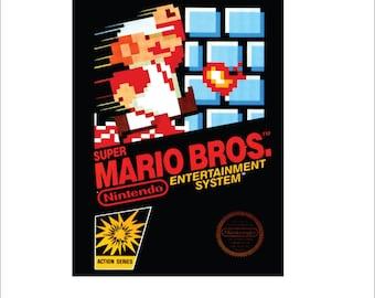 "Nintendo Vintage Mario Bros. box art  print/poster  - 11"" by 17"" print"