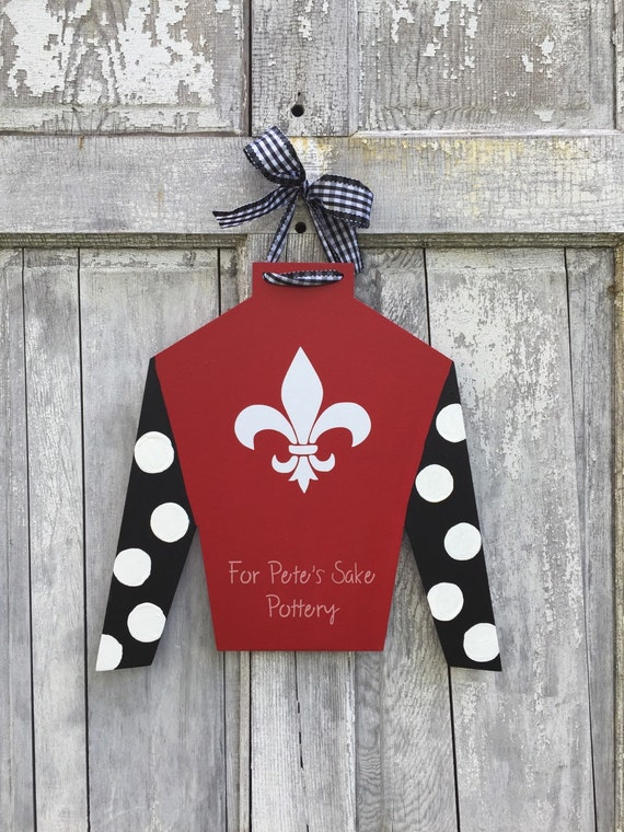 Kentucky Derby Jockey silk door hanger, Jockey silk door hanger, Jockey silk sign, Ky Derby sign, Personalized jockey silk, Jockey gift