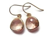 Gift Peach earrings Champagne earrings Blush earrings Bridesmaid earrings Bridal earrings Dangle earrings Drop earrings Wedding jewelry Gift