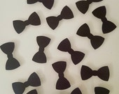 75 Pieces of Black Tie Affair Bowtie Die Cut Confetti - Perfect for parties and available in your choice of colors