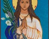 Saint Philomena  Ready to Frame Print, Catholic Art, 8x10, 11 x 14,16x20,20x30