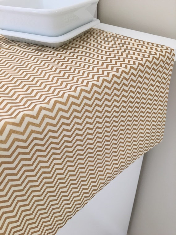 gold table runner 36 90 chevron runner by sewmuchfrommichele. Black Bedroom Furniture Sets. Home Design Ideas