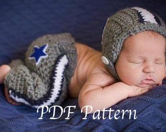 Baby Football Helmet Pants Crochet Pattern, Baby Crochet Pattern, Baby Football Hat Crochet Pattern, Football Pants Crochet Pattern, Baby