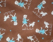 SALE : Polly Goes to Paris ooh la la brown Henry Glass fabrics FQ or more oop htf