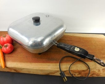 Sunbeam Electric Fry Pan Skillet - Model FP-L - 1950s Kitchen Cookware Appliance