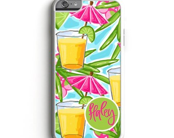 Personalized Phone Case - Umbrella Drinks Personalized Phone Case, Custom Phone Case, iPhone Case, Personalized Samsung S6 Case