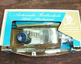 Vintage Automatic Greist Buttonhole Stitch Attachment in Box with Booklet