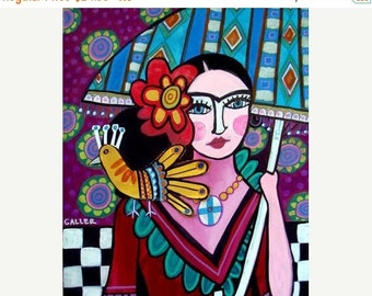 55% Off- Mexican Folk Art, Frida Kahlo Art (HG670)