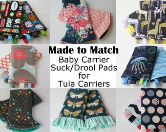 Baby Carrier Suck/Drool Pads - For Tulas (Shine, Prance, Dew Drop, Stellar, Garden Party & more) - Choose Straight, Curved, and Ruffles