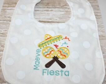 Baby Bib, Fiesta Baby Bib, Baby boy bib, baby girl bib, Cinco De Mayo Bib, Party Bib, Minky Bib