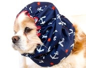 Stars and Anchors Waterproof Snood, Cavalier King Charles or Cocker Snood, Girl Dog Snood