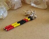 Australian Indigenous Colours Black Gold and Red Modern Tribal Earrings
