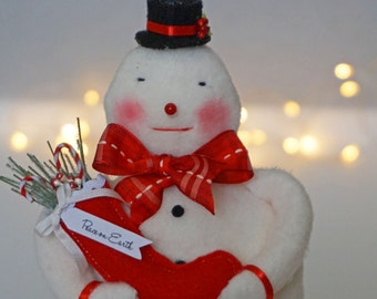 Sweet Handmade Snowman