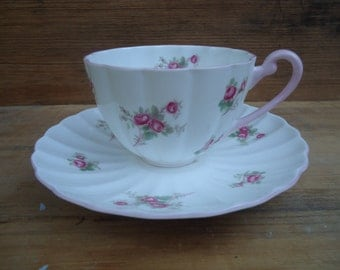 Vintage Bridal Rose Shelley Cup and Saucer