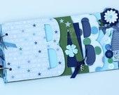 Baby boy scrapbook album, Baby shower gift, Premade scrapbook for baby boy- BB30