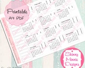 2017 Calendar Planner Month Tabs White (Digital Download)