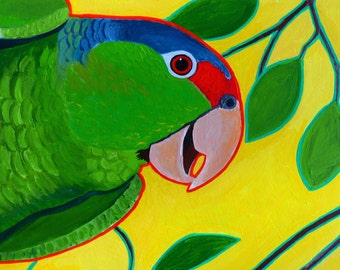Prismatic Parrot Original Parrot Painting