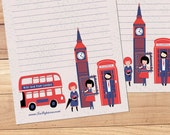 Love From London - A5 Stationery - 12, 24 or 48 sheets