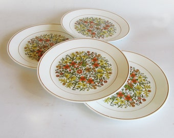 "Corning Corelle ""Indian Summer"" Dinner Plates - 10"" Plates - Set of 4"