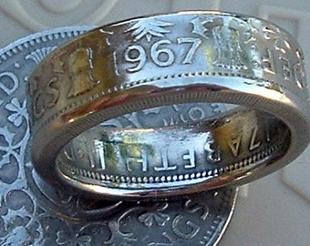 British Two Shilling Coin Ring (Available in sizes 8.5 through 13)
