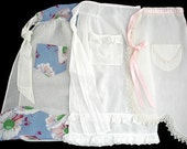 Set of Three Assorted Vintage Sheer Aprons
