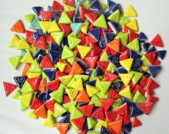 Custom order-1 pound mosaic tiles-Triangles 3/4 inch non embossed