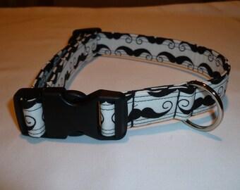 Dog Collar, Handmade Dog Collar, Moustache