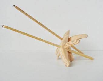 Turkish drop spindles eco friendly set of 2 - choose your own size