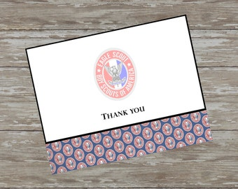 Scouting folded thank you cards - set of 15 with white envelopes
