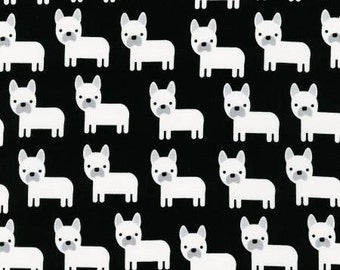 Robert Kaufman Urban Zoologie Jet Dogs Fabric -  1 yard