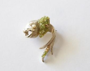 Vintage 1950's Mid Century Fish Pin/Brooch! Mid Century Costume Jewelry!