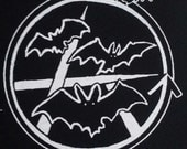 Bat cave punk anarcho goth deathrock icon punk patch